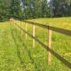 Stockdale Fencing | Wooden Horse Rail Fencing | Nantwich meadow