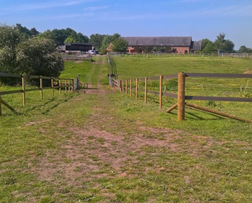 Stockdale Fencing   Horse Rail Fencing   Nantwich track