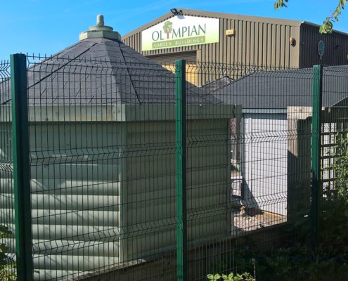 Stockdale Fencing | Industrial Fencing | Olympian Garden Buildings