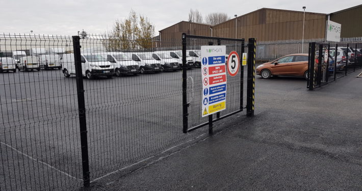 Stockdale Fencing | Industrial Fencing | Open Gate