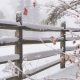 Stockdale Fencing   Post and Rail Fencing   Snowy Fence