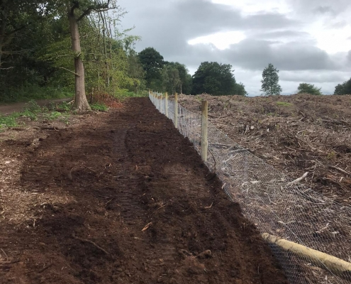 Stockdale Fencing | Post and Rail Fencing | Rabbit netting